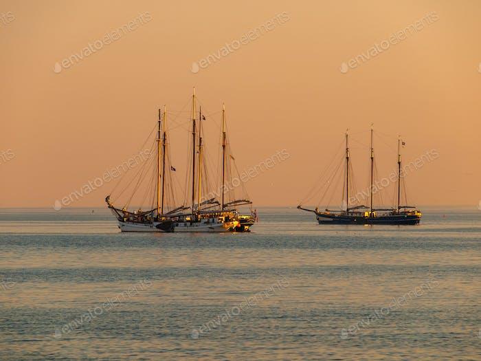 Sailing Ship Sunset