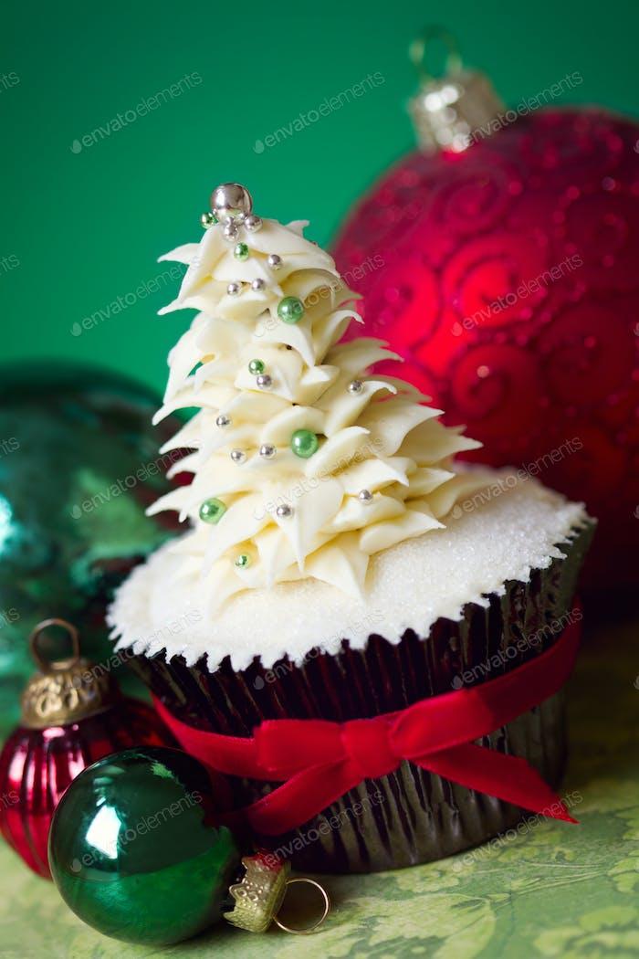 Weihnachtsbaum Cupcake