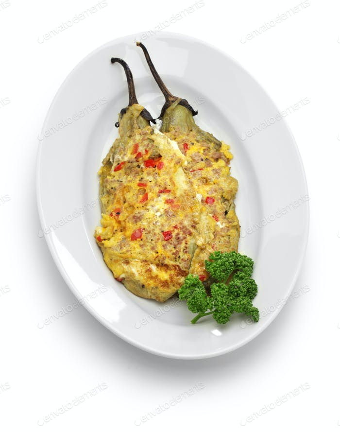 tortang talong, eggplant omelet, filipino food