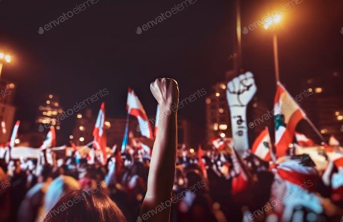 Revolución en el Líbano