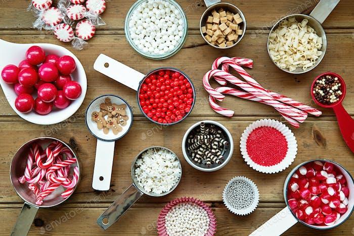 Christmas cupcake decorations