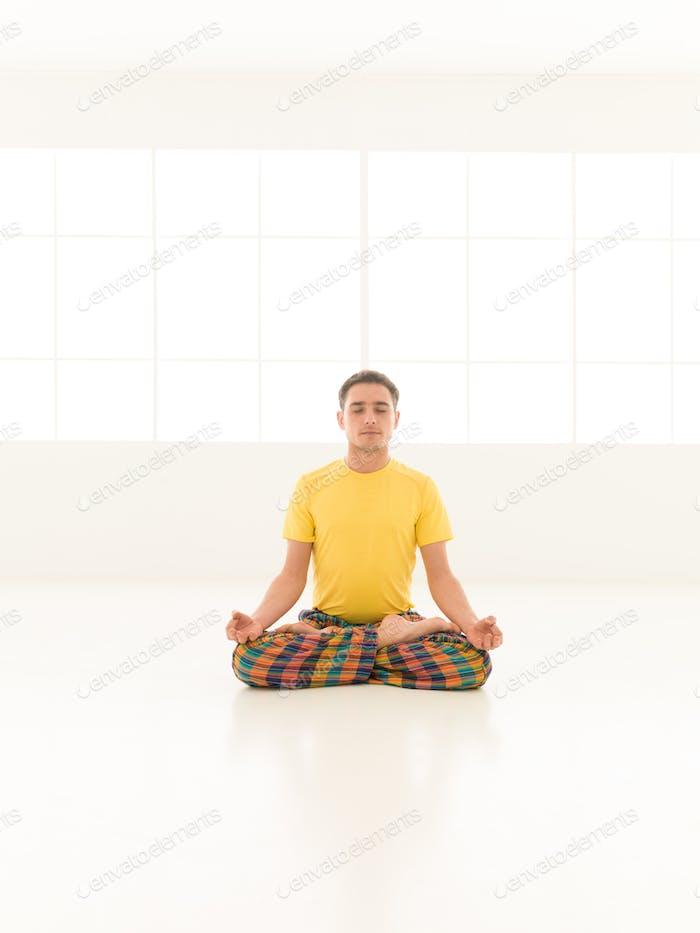 lotus position studio man