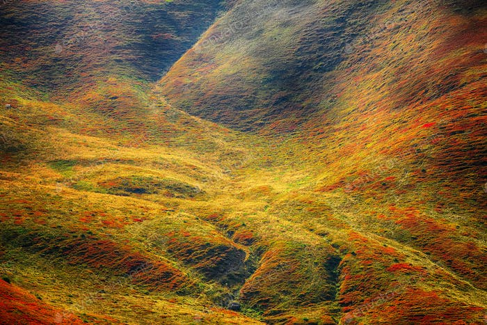 Abstract colorfull mountainside