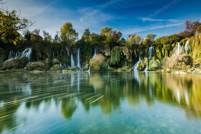 Kravica waterfall, long exposure,Bosnia