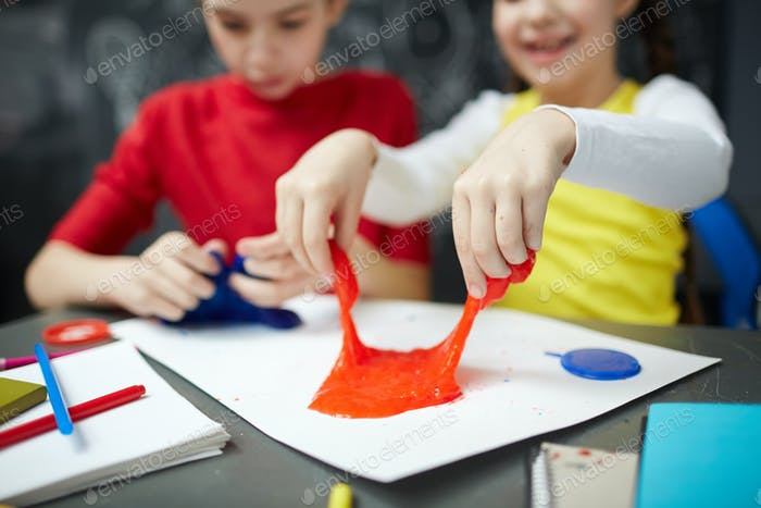 Play with slime