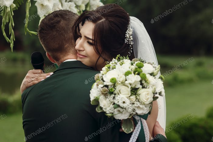 Beautiful couple at wedding ceremony