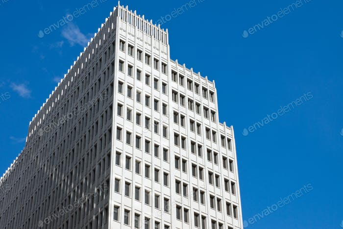 Skyscraper in front of a blue sky