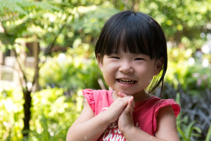 Portrait of beautiful asian child