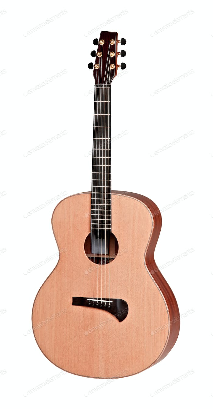Classical acoustic guitar, isolated on white