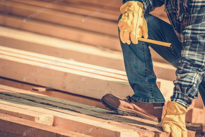 Construction Wood Beams