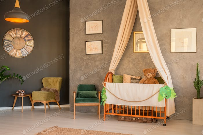 Baby room with antiques