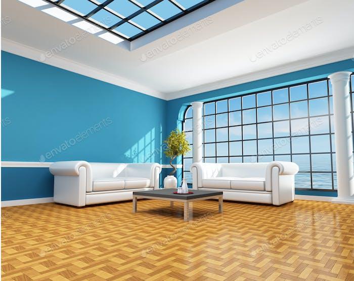 classic blue beach house
