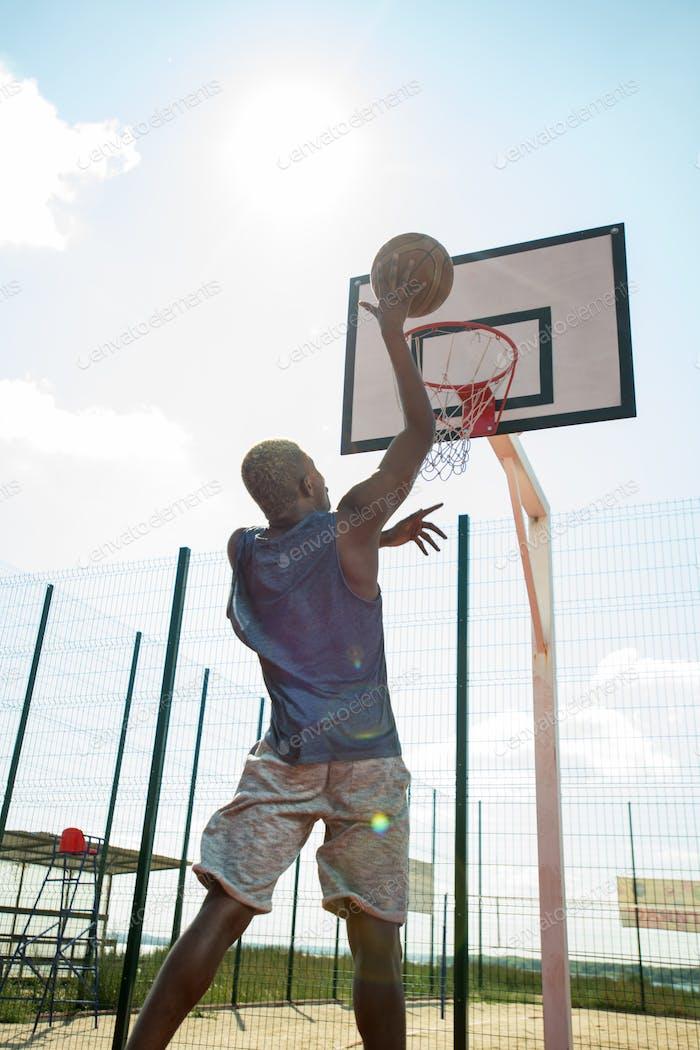 African Basketball Player in Sunlight