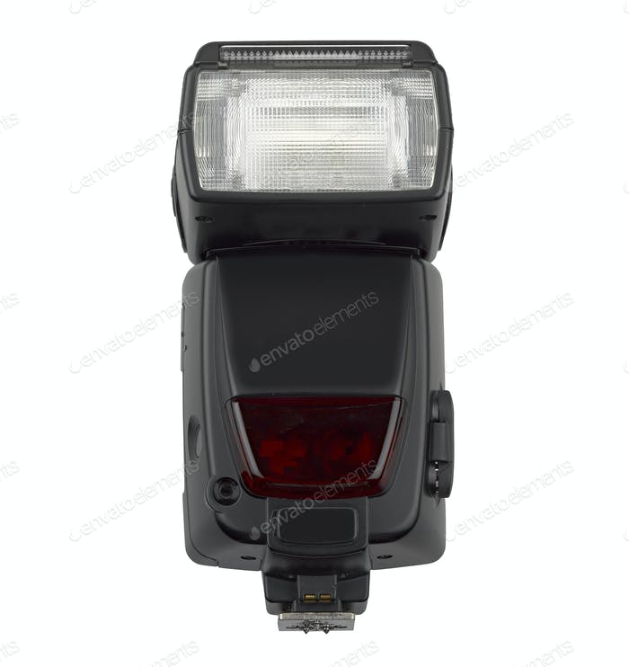 Camera flash isolated on white background