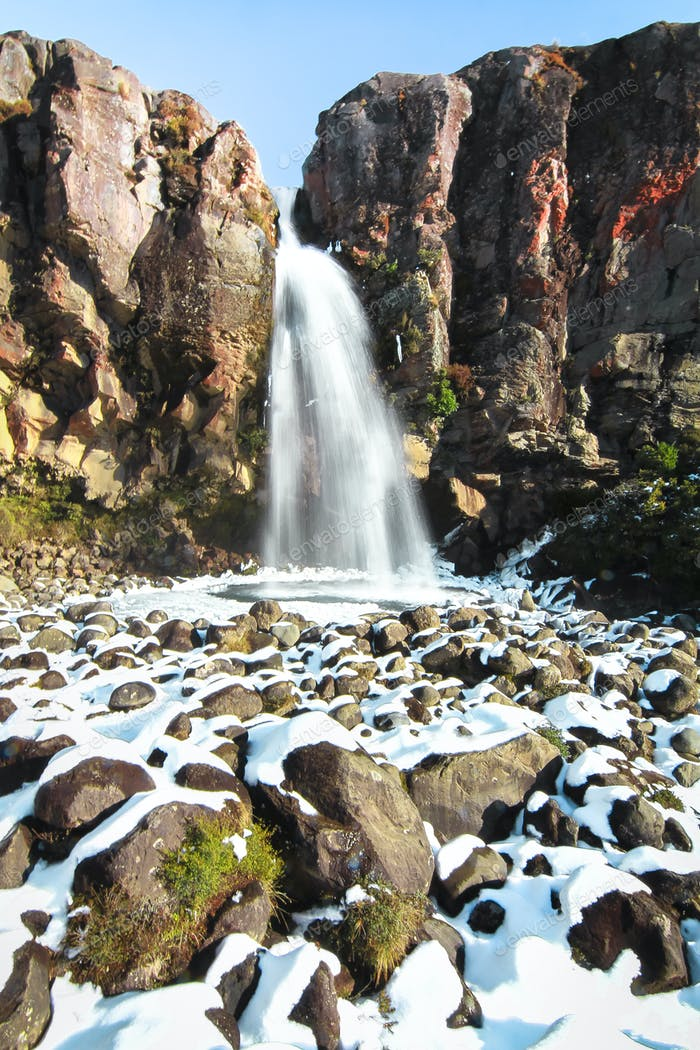 Taranaki Falls in New Zealand