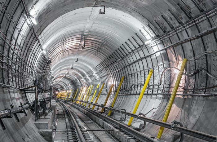 Construction of the underground tunnel