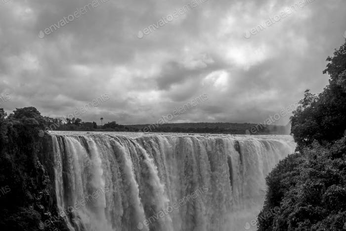 The Victoria Falls from the Zimbabwe side.
