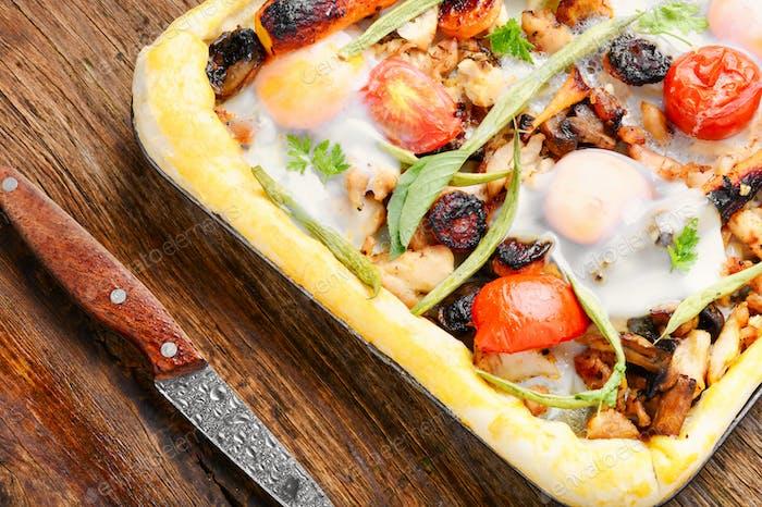 Delicious fresh pizza