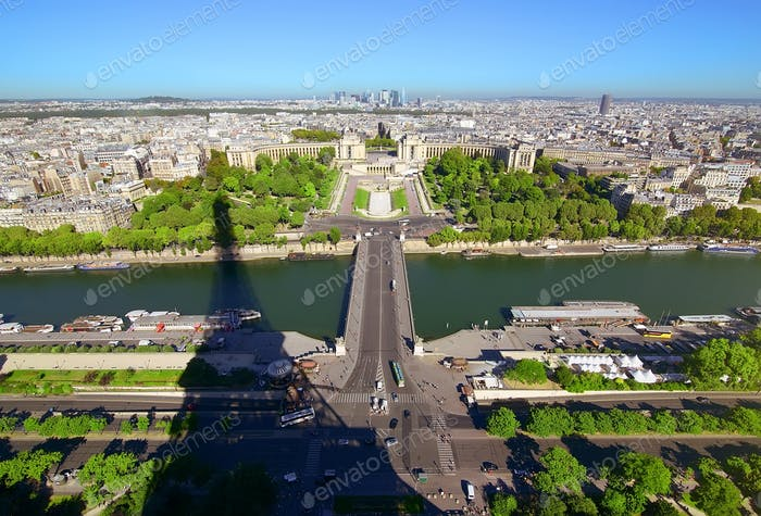 Aerial panoramic Paris