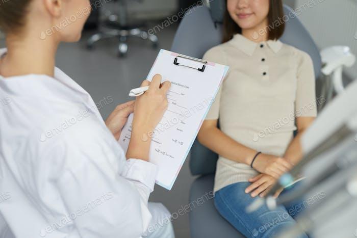 Doctor Filling Form