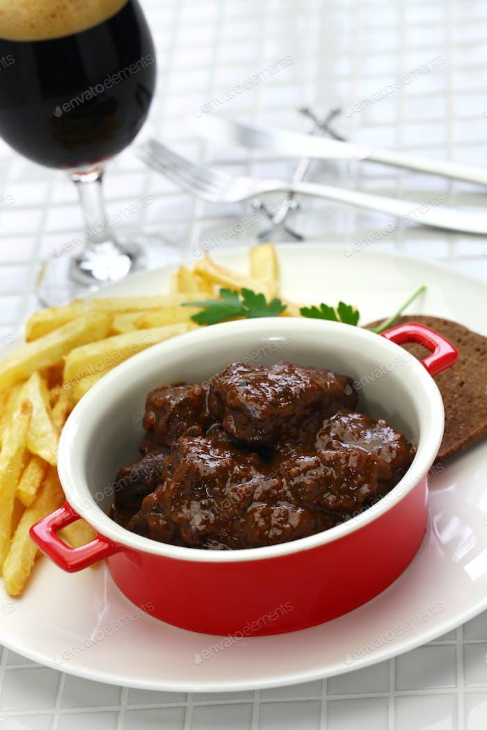 carbonade flamande, flemish stew, belgian cuisine