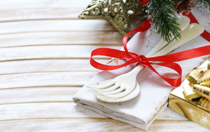 Besteck Gabel und Löffel Weihnachten
