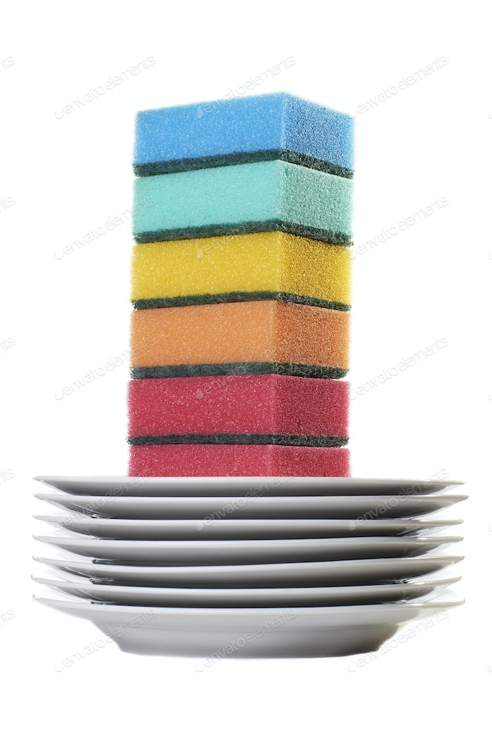 Color sponges set