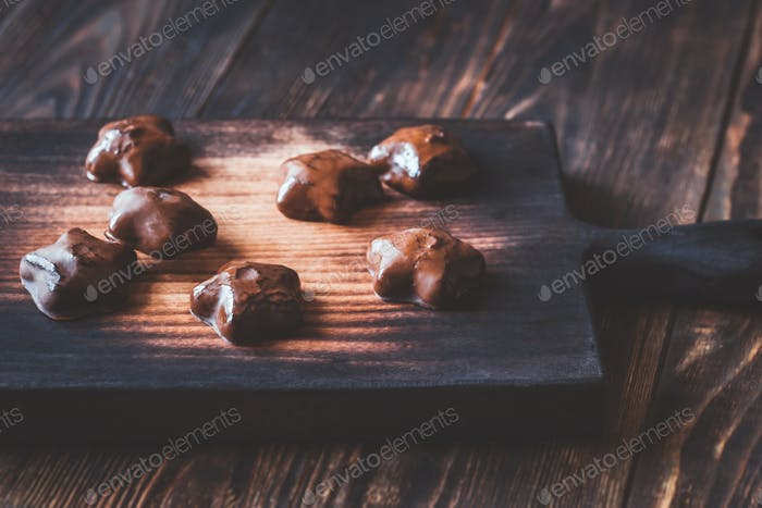 Lebkuchen auf dem Holzbrett