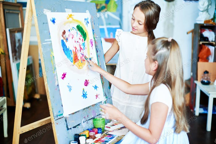 Creating Finger Painting
