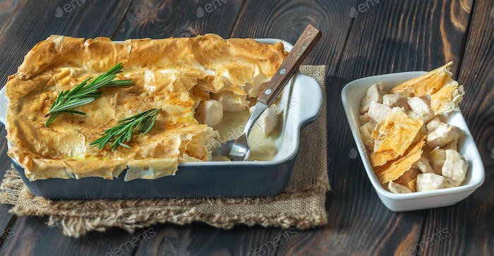 Chicken pie with philo
