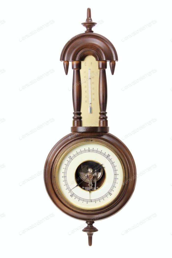 Antikes Thermometer und Hygrometer