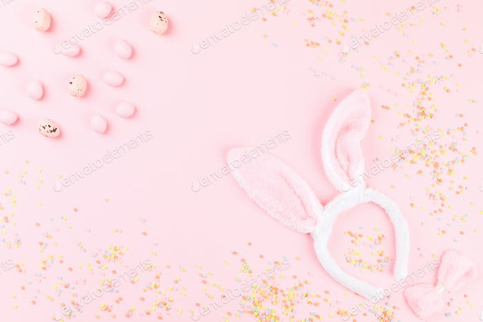Happy Easter Greeting card with the inscription.Concept of festive greeting