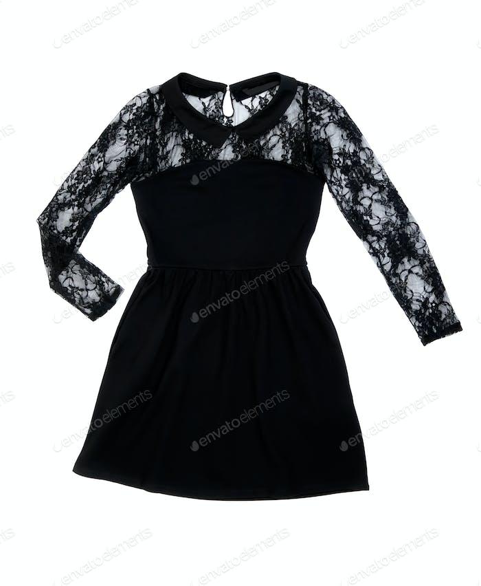 Schwarzes Damenmode Kleid
