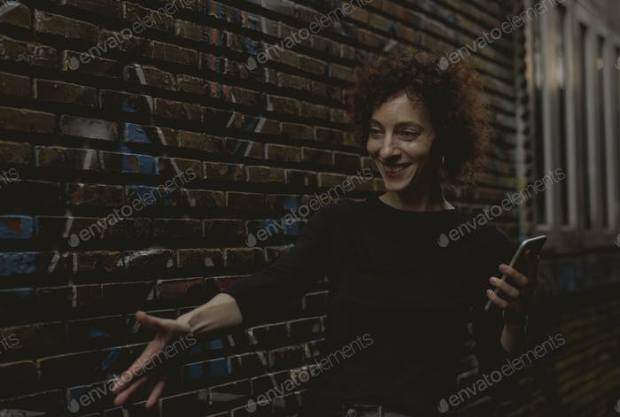 Woman reaching out her hand