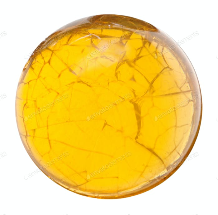 Perle aus gelbem Feueropal natürlichen mineralischen Edelstein