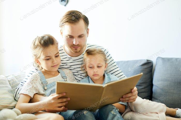 Lesen mit Vater