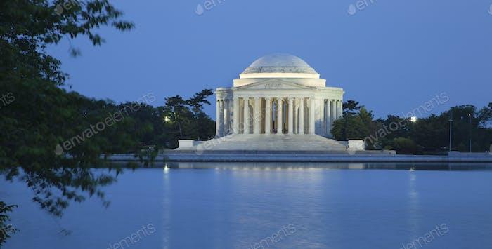 Jefferson Memorial in Washington DC at Night
