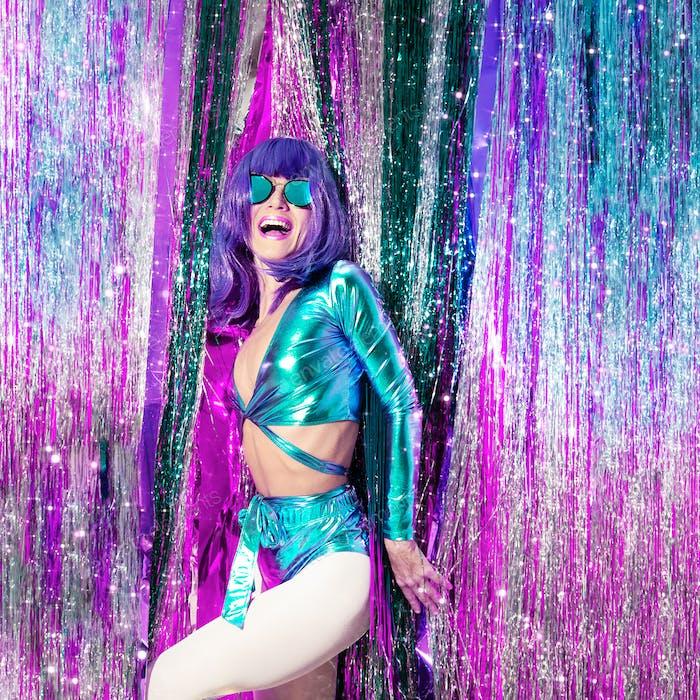 Happy disco Girl 80s