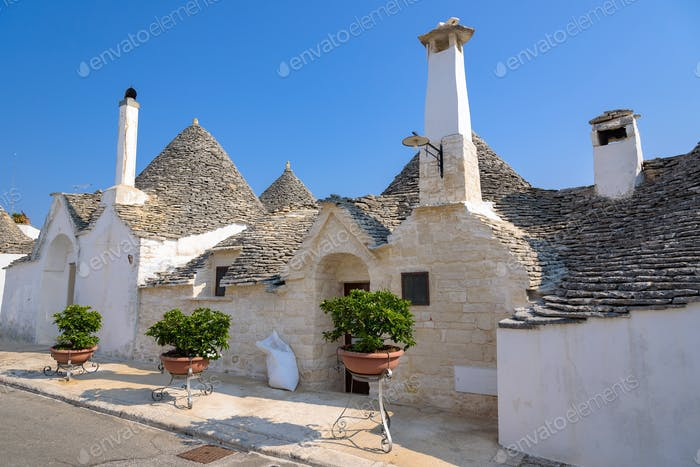 Trulli houses in Alberobello town