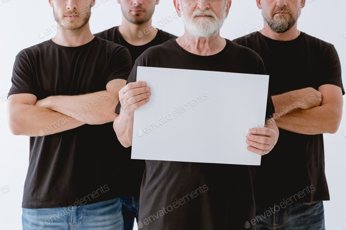 Man holding the paper