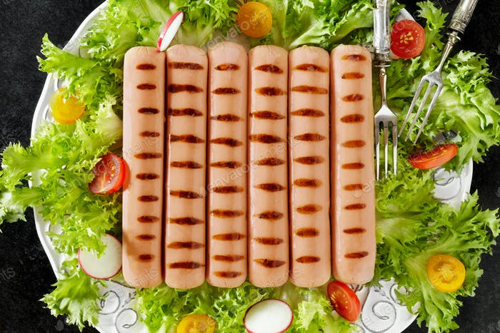 Plate With Grilled Wurst