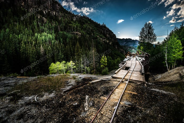Remnant of the Old Mine Ouray District Mt Monarch Colorado USA M