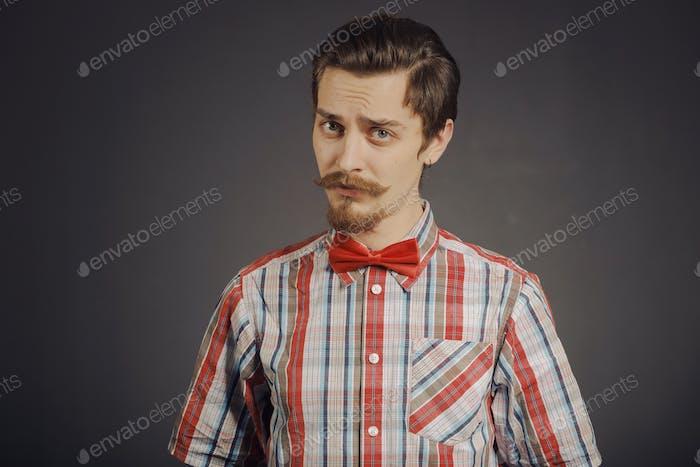 Portrait of bearded hipster
