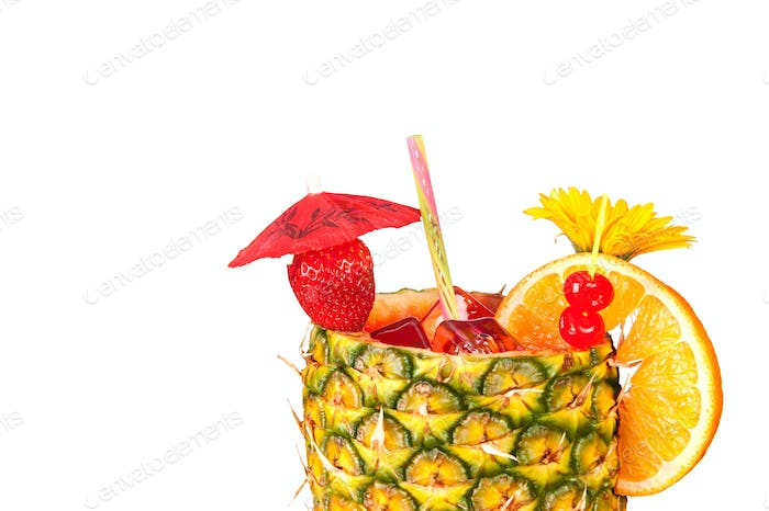 Isolated tropical drink