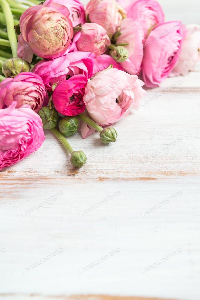 Blumenstrauß Rosa Ranunkulus, Butterblume Blumen
