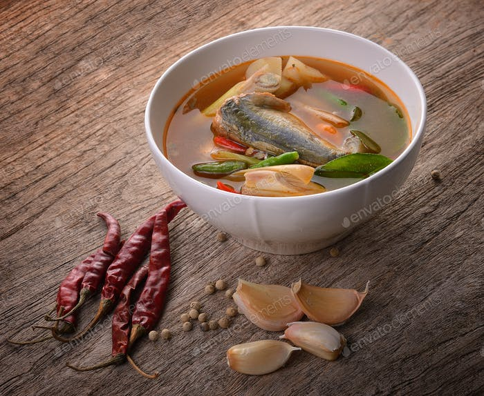 Spicy Sardines  fish ,tom yum thai food style