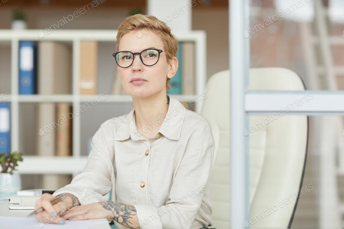 Modern Female Boss at Workplace