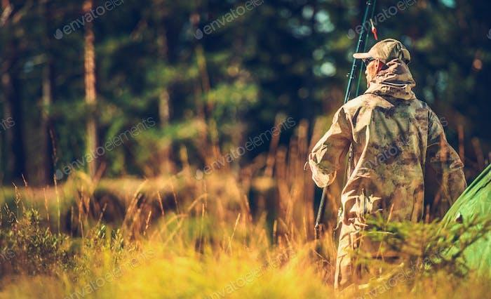 Caucasian Hunter in the Wild