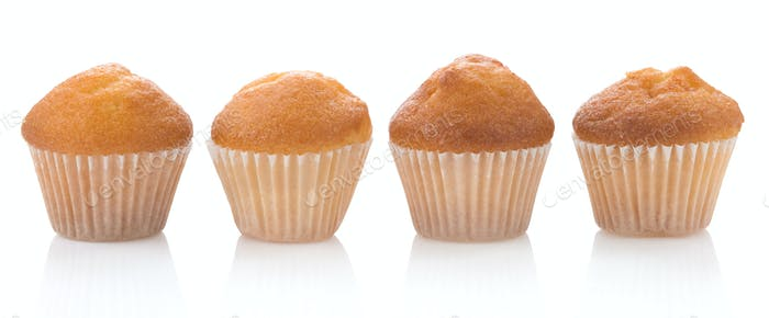 muffin cakes isolated on white