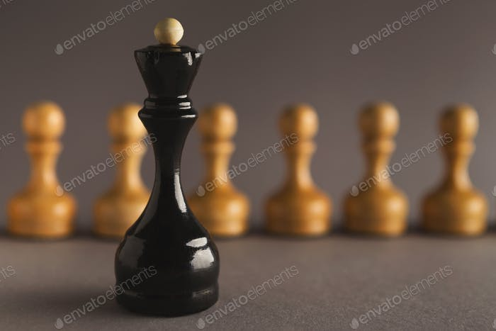 Abstract leadership business concept with chess
